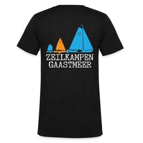 ZKG Wit - Mannen bio T-shirt met V-hals van Stanley & Stella