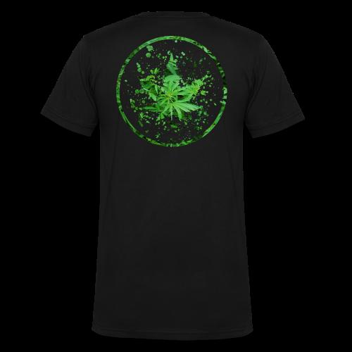 Cannabisblatt Farbklecks im Kreis - Männer Bio-T-Shirt mit V-Ausschnitt von Stanley & Stella