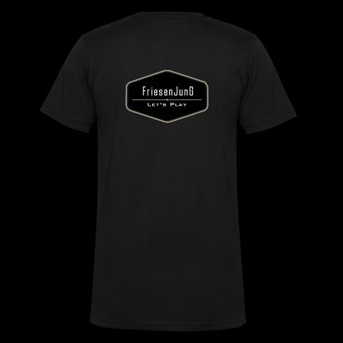 Friesenjung Logo - Männer Bio-T-Shirt mit V-Ausschnitt von Stanley & Stella