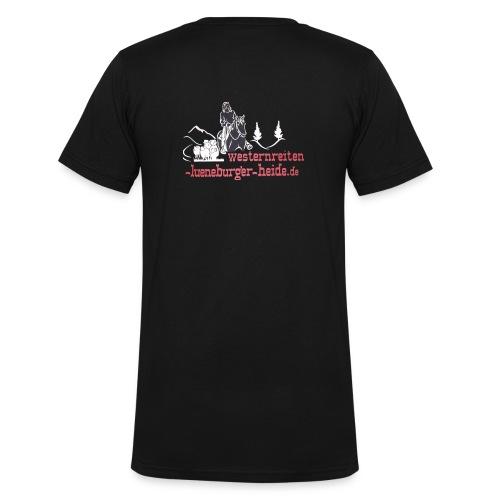 Westernreiten Lüneburger Heide - Männer Bio-T-Shirt mit V-Ausschnitt von Stanley & Stella