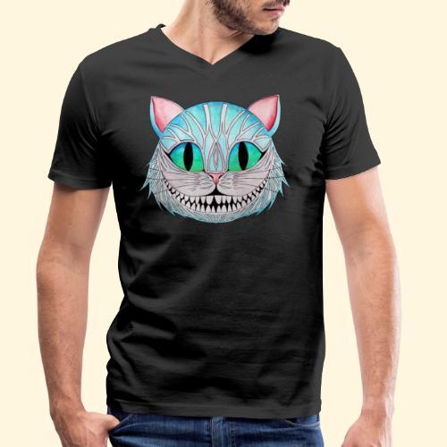 Le Chat de Cheshire - T-shirt bio col V Stanley & Stella Homme