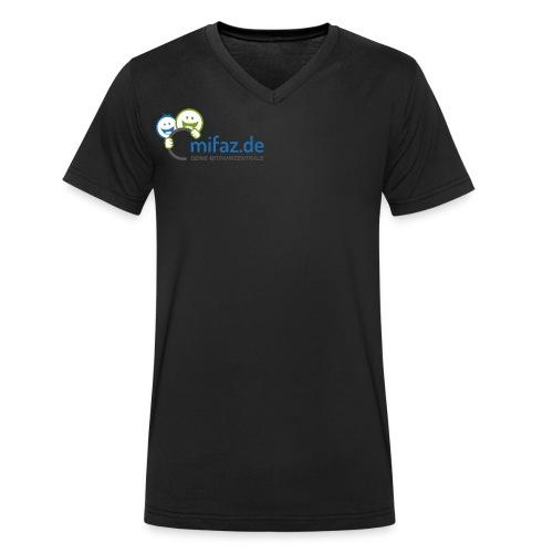 mifaz Logo DEINE - Männer Bio-T-Shirt mit V-Ausschnitt von Stanley & Stella