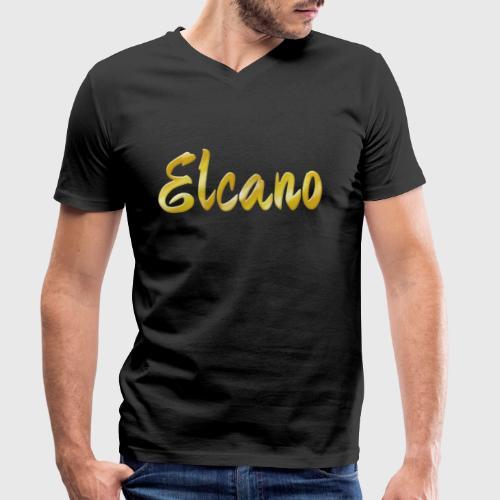 ELCANO Schriftzug - Männer Bio-T-Shirt mit V-Ausschnitt von Stanley & Stella