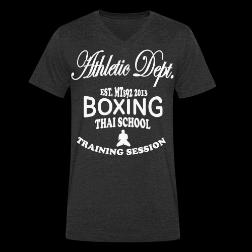 (high_school_couleur_uni) - T-shirt bio col V Stanley & Stella Homme