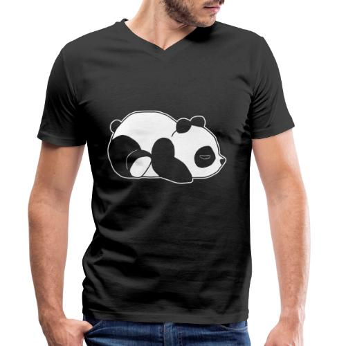 Panda, süß, Tier, Comic - Männer Bio-T-Shirt mit V-Ausschnitt von Stanley & Stella