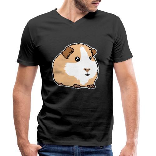 Meerschweinchen, Hausmeerschweinchen, Tier, kawaii - Männer Bio-T-Shirt mit V-Ausschnitt von Stanley & Stella