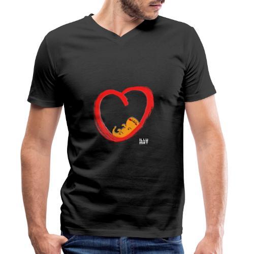 LYD 0003 04 KittyLove - Männer Bio-T-Shirt mit V-Ausschnitt von Stanley & Stella