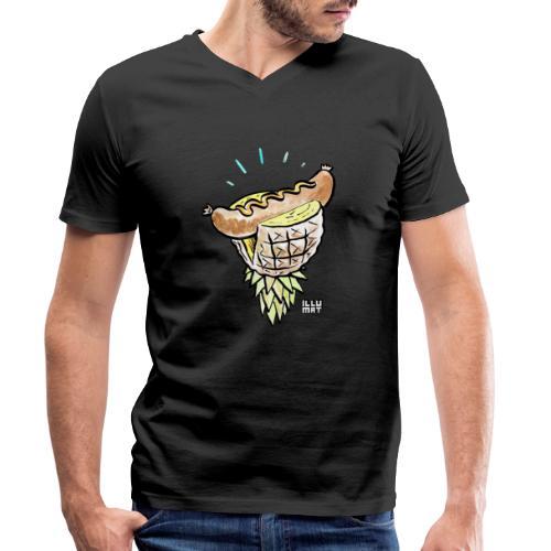 Stef 0005 00 tropical bratwurst - Männer Bio-T-Shirt mit V-Ausschnitt von Stanley & Stella