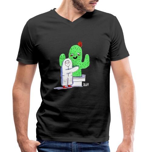 VER 0001 00 Kaktusumarmung - Männer Bio-T-Shirt mit V-Ausschnitt von Stanley & Stella