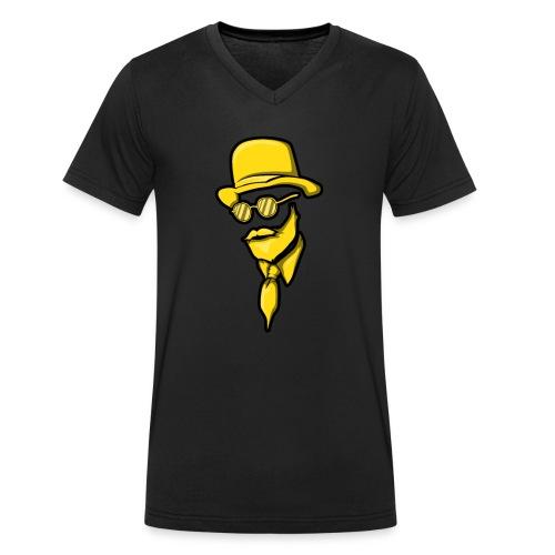 Man Mann Mit Bart Bärtiger Bartträger Hut Elegant - Männer Bio-T-Shirt mit V-Ausschnitt von Stanley & Stella