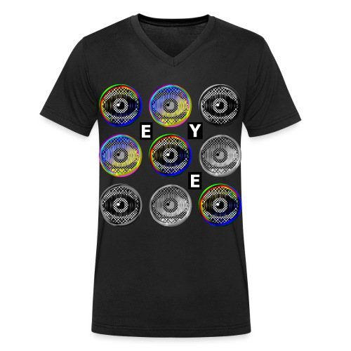 pop art eyes - Men's Organic V-Neck T-Shirt by Stanley & Stella