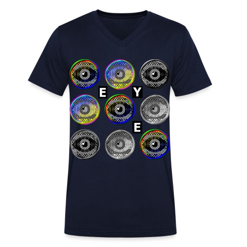 pop art eyes - Men's Organic V-Neck T-Shirt by Stanley & Stella