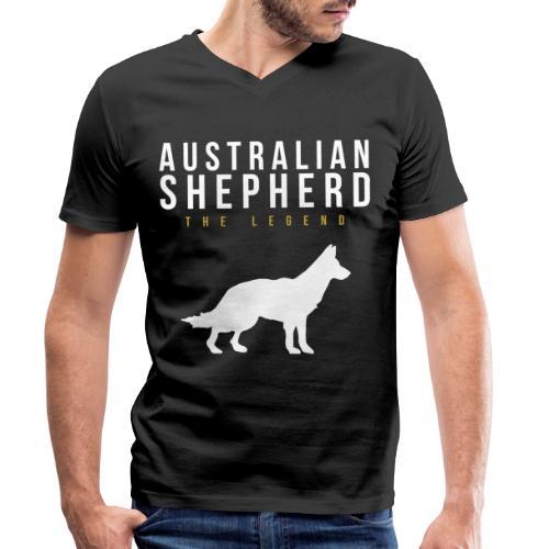 Australian Shepherd Legendär Dog Hund - Männer Bio-T-Shirt mit V-Ausschnitt von Stanley & Stella