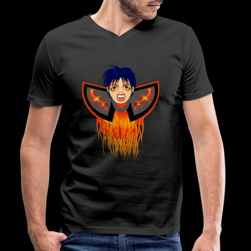 vampire en flamme - T-shirt bio col V Stanley & Stella Homme