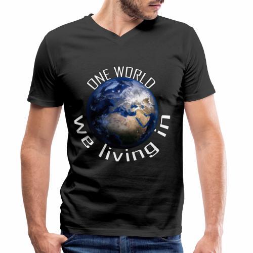 One World we living in - Männer Bio-T-Shirt mit V-Ausschnitt von Stanley & Stella