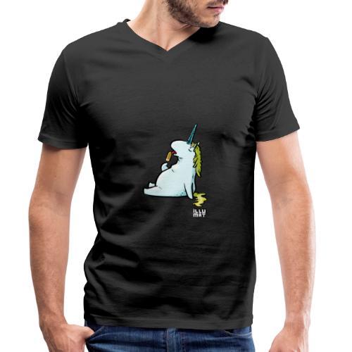 STE 0006 00 Eis Einhorn - Männer Bio-T-Shirt mit V-Ausschnitt von Stanley & Stella
