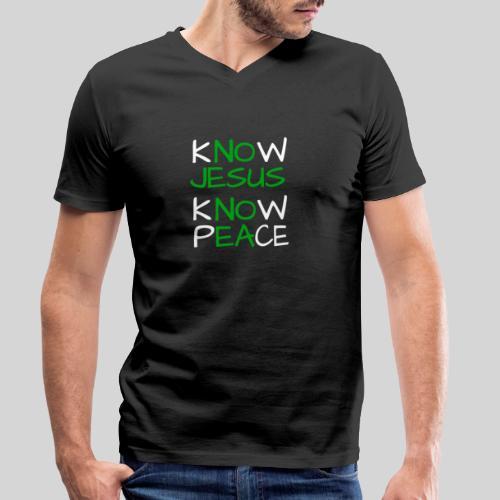 know Jesus know Peace - kenne Jesus kenne Frieden - Männer Bio-T-Shirt mit V-Ausschnitt von Stanley & Stella