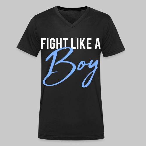 2reborn Fight like a Boy Junge Menpower Hero Gym S - Männer Bio-T-Shirt mit V-Ausschnitt von Stanley & Stella