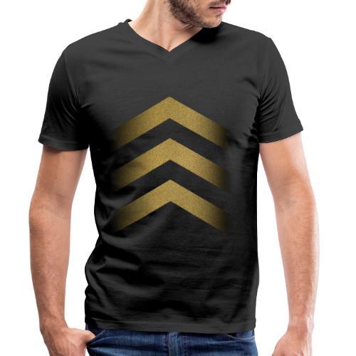 Starmen Gold - Men's Organic V-Neck T-Shirt by Stanley & Stella