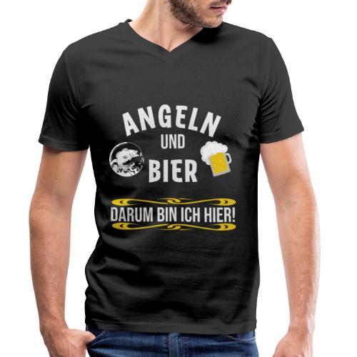 Angler angeln Sportfischer Fischer Angelhobbie Fun - Männer Bio-T-Shirt mit V-Ausschnitt von Stanley & Stella