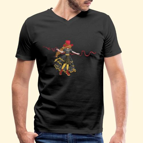 Ladybird - La célèbre uchronaute - T-shirt bio col V Stanley & Stella Homme