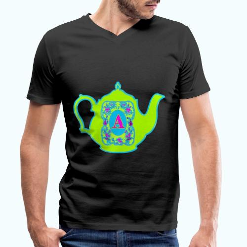 Wonders & Madness Tea Party - Men's Organic V-Neck T-Shirt by Stanley & Stella