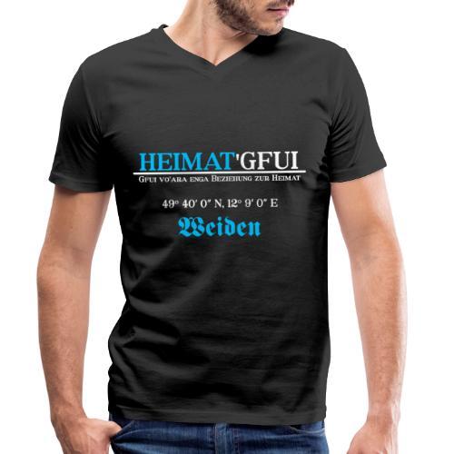 Heimat'Gfui Weiden Bayern Geschenk Dialekt - Männer Bio-T-Shirt mit V-Ausschnitt von Stanley & Stella
