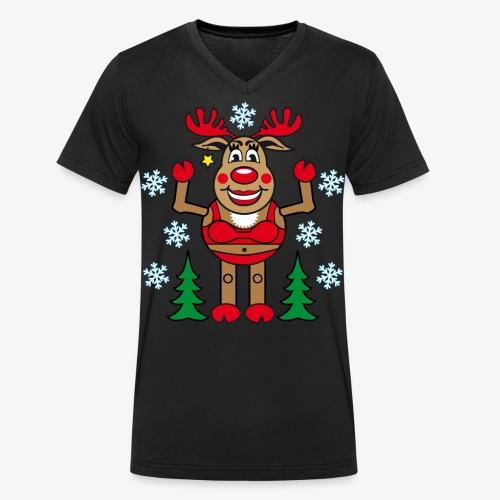 48 Madame Rudolphine Xmas - Männer Bio-T-Shirt mit V-Ausschnitt von Stanley & Stella