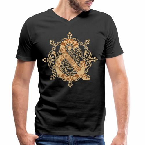 Escudo natural & ... - Camiseta ecológica hombre con cuello de pico de Stanley & Stella