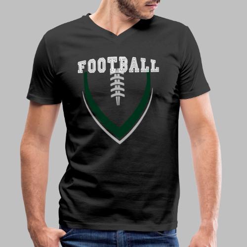 Football LOGO Ball American Football Geschenkidee - Männer Bio-T-Shirt mit V-Ausschnitt von Stanley & Stella