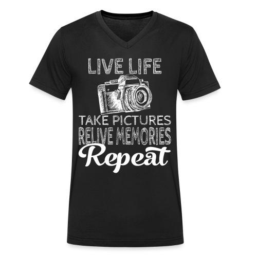 Take Pictures Skizzierter Fotoapparat Fotografie - Männer Bio-T-Shirt mit V-Ausschnitt von Stanley & Stella
