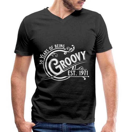50 years of being groovy Geburtstag Vintage Gift - Männer Bio-T-Shirt mit V-Ausschnitt von Stanley & Stella