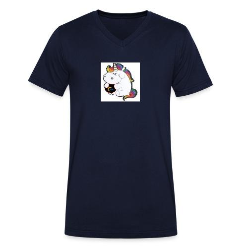 MIK Einhorn - Männer Bio-T-Shirt mit V-Ausschnitt von Stanley & Stella