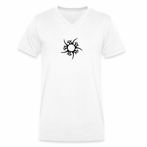 tribal sun - Men's Organic V-Neck T-Shirt by Stanley & Stella
