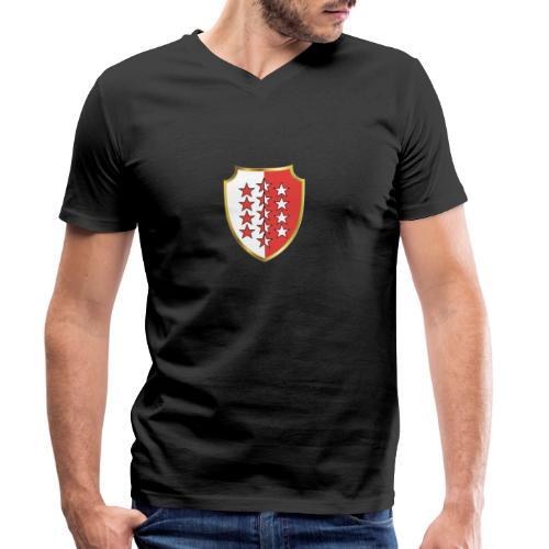 Valais Wallis Gold Or - Männer Bio-T-Shirt mit V-Ausschnitt von Stanley & Stella