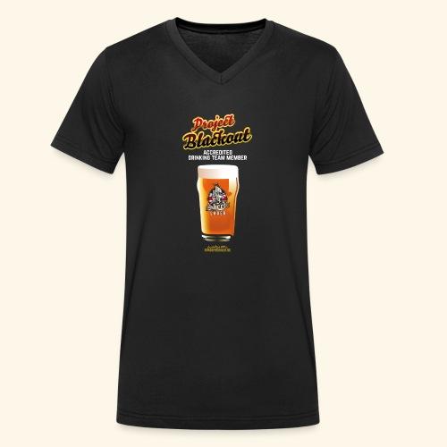 Drinking Shirt Project Blackout - Männer Bio-T-Shirt mit V-Ausschnitt von Stanley & Stella