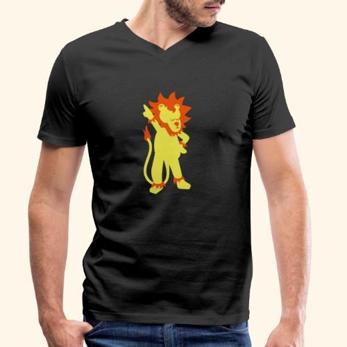 Partylöwe - Männer Bio-T-Shirt mit V-Ausschnitt von Stanley & Stella