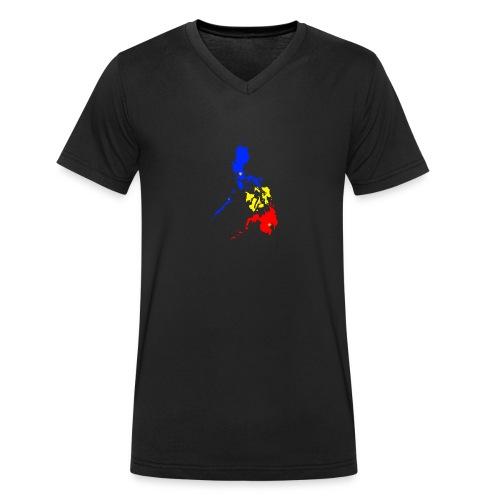 Philippinen Karte - Männer Bio-T-Shirt mit V-Ausschnitt von Stanley & Stella