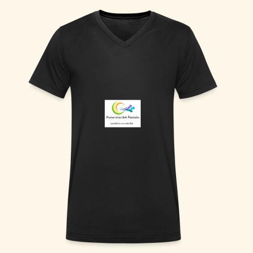 Pluriweb - Camiseta ecológica hombre con cuello de pico de Stanley & Stella
