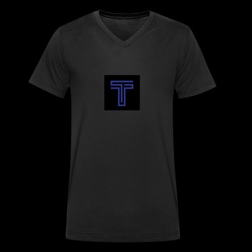 YT logo design - Men's Organic V-Neck T-Shirt by Stanley & Stella
