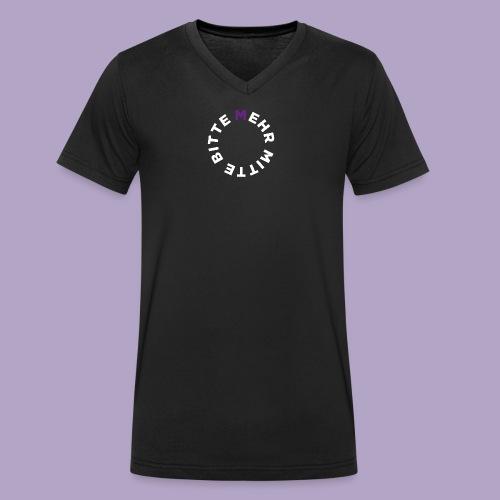 Mehr Mitte Bitte | Julius Raab Stiftung - Männer Bio-T-Shirt mit V-Ausschnitt von Stanley & Stella