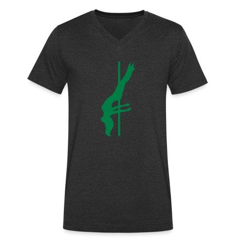 Pole Dance - T-shirt ecologica da uomo con scollo a V di Stanley & Stella