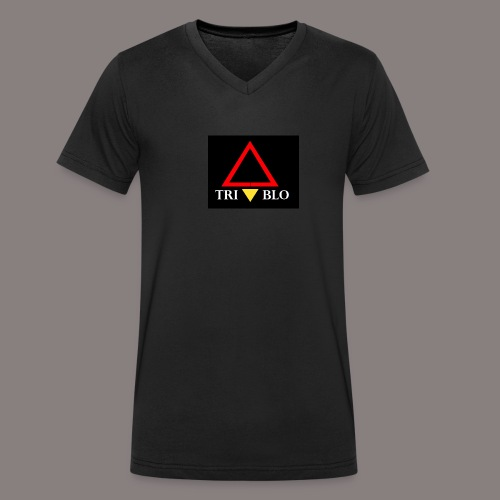 TRIABLO BLACK - T-shirt ecologica da uomo con scollo a V di Stanley & Stella