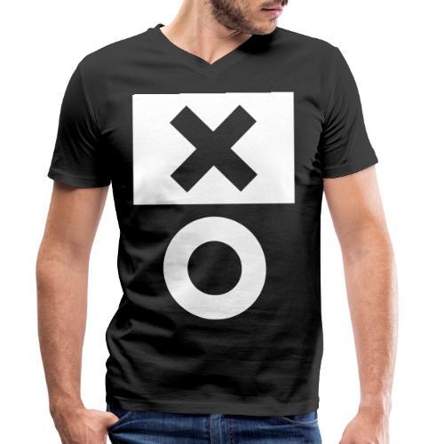XO Black - Männer Bio-T-Shirt mit V-Ausschnitt von Stanley & Stella