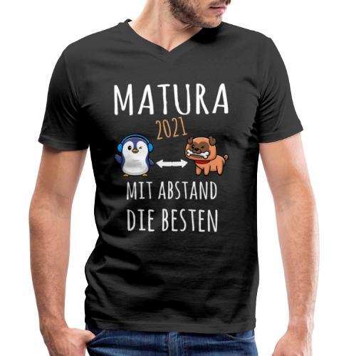 MBA Matura 2021 Hund Pinguin Shirt Geschenk - Männer Bio-T-Shirt mit V-Ausschnitt von Stanley & Stella