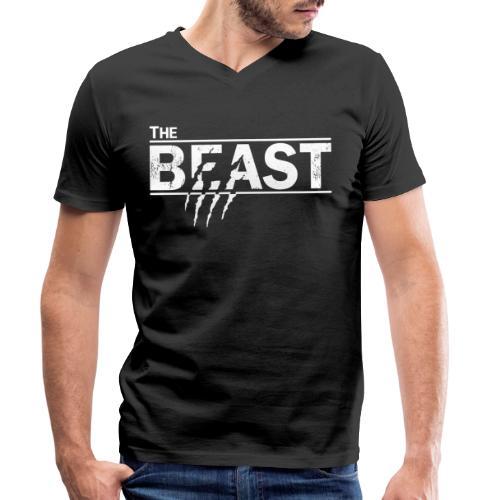 The beauty and the beast - Männer Bio-T-Shirt mit V-Ausschnitt von Stanley & Stella