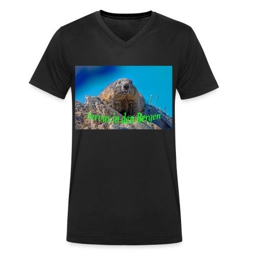 Servus in den Bergen - Männer Bio-T-Shirt mit V-Ausschnitt von Stanley & Stella