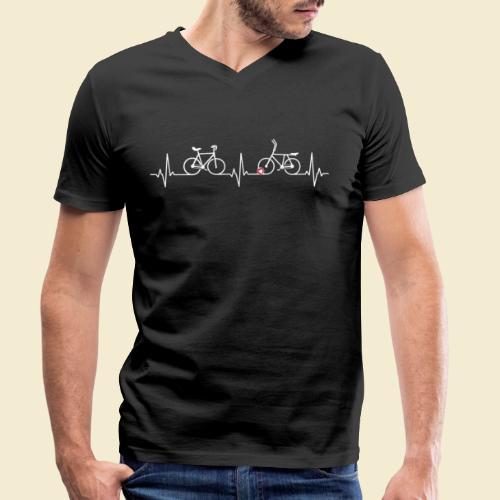 Heart Monitor Kunstrad & Radball - Männer Bio-T-Shirt mit V-Ausschnitt von Stanley & Stella