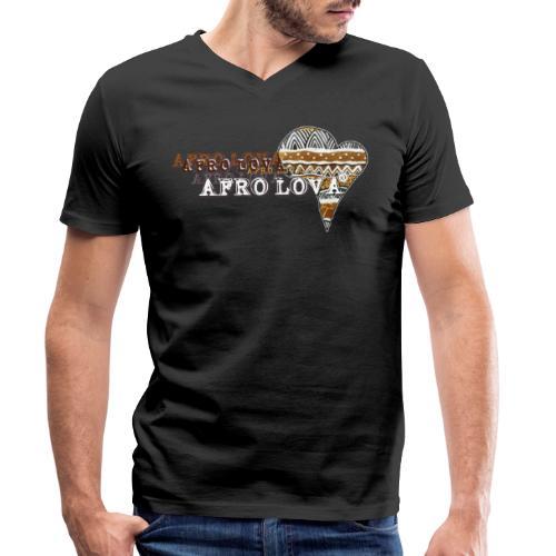 Afro Lova Savane - T-shirt bio col V Stanley & Stella Homme