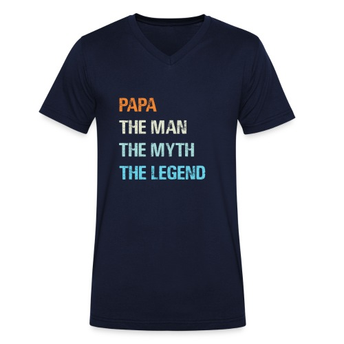 Papa de man de legende. Cadeau idee vaderdag. - Mannen bio T-shirt met V-hals van Stanley & Stella